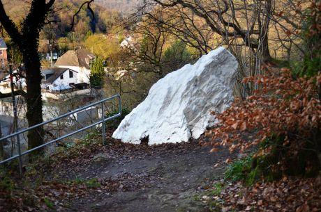 weißer Stein