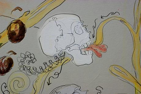 Leben: Detail aus einer Zeichnung von Sonja Alhäuser