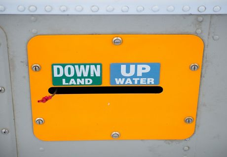 Down land, up water