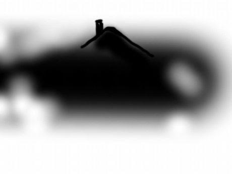 Ebenenmaske: schwarz = scharf, weiß = unscharf