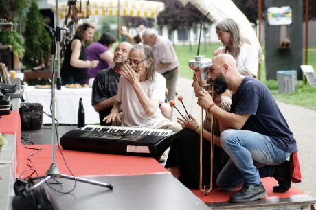 The Band: bei der Vorstellung für die verbliebene Presse