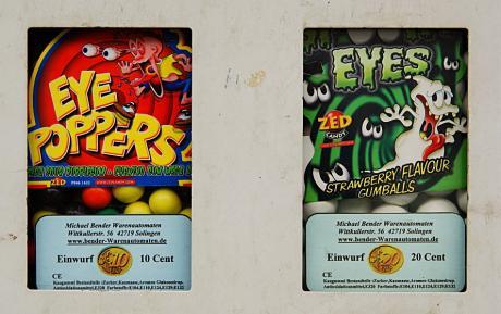Eye-Poppers: aus dem Automaten