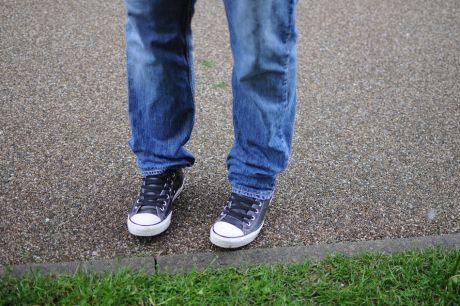 falsches Schuhwerk bei Regen ?