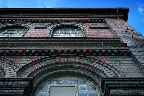Fassade städtische Badeanstalt Birkerbad