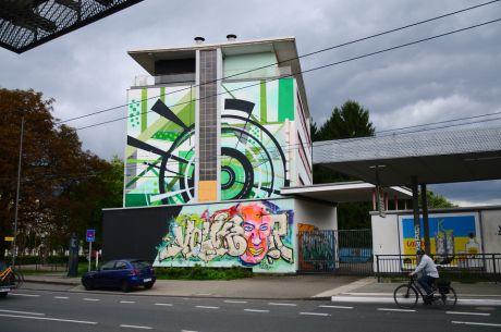 Das Felix-Gebäude: von der Kölner Straße aus gesehen