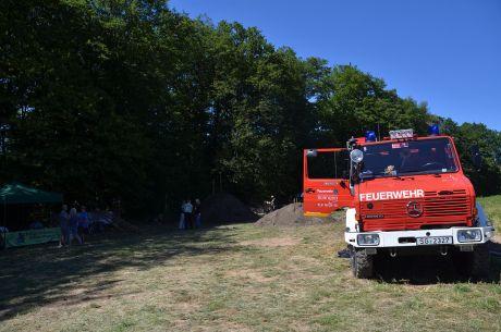 Die Freiwillige Feuerwehr hält Brandwache