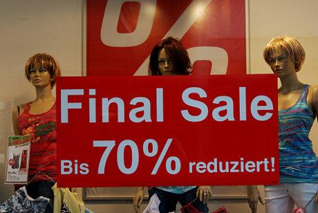 Final Sale: reduziert, alles muss raus