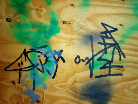 Flash als Graffito