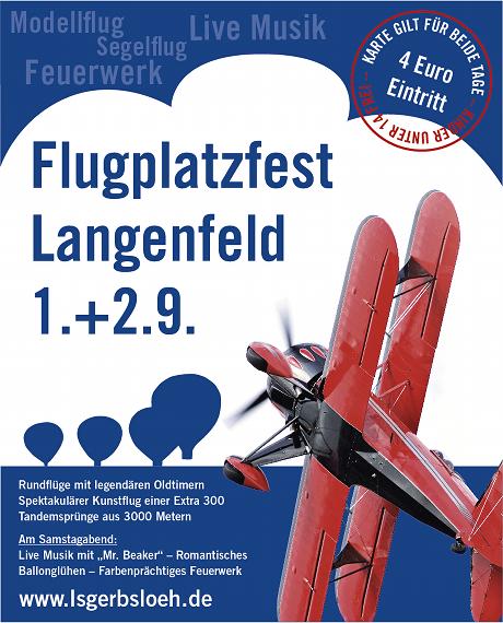 Flyer Flugplatzfest 2012