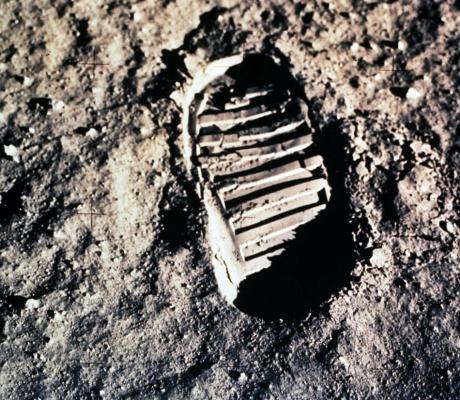 Fußabdruck: (Foto: NASA)
