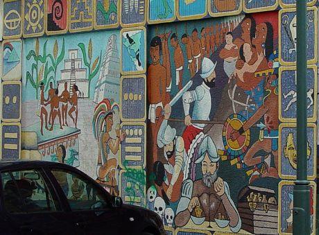 "Wandgemälde ""500 Jahre Entdeckung Amerikas"" - Detail 2"