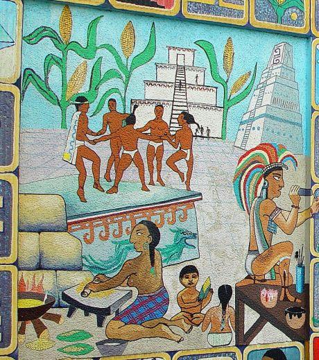 "Wandgemälde ""500 Jahre Entdeckung Amerikas"" - Detail 3"