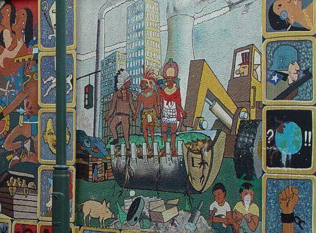 "Wandgemälde ""500 Jahre Entdeckung Amerikas"" - Detail"