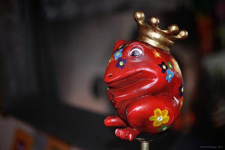 Froschkönig auf der Stange