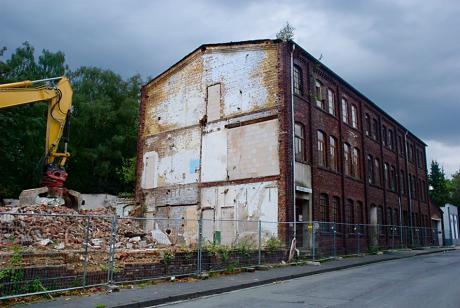 Abriss der Bergischen Lackfabrik