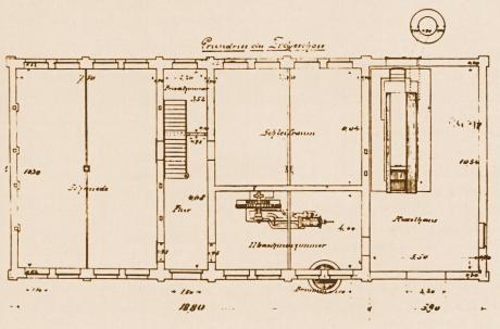 Grundriss der Dampfschleiferei Gebhardtstraße, 1888