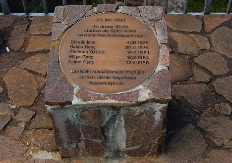 Gedenkstein: Untere Werner Straße, am 28.  Mai 2009