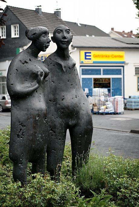 """Walder Getränke-Center a la Kratz: Max Kratz; """"Der Fischer un sin Fru"""", am 30. Mai 1998 eingeweiht"""