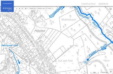Hästen - Gewässerkarte: Screendump