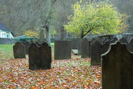 Gräber: alter ev. Friedhof in Solingen, Unterburg