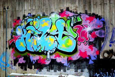 Graffito am Grünewald