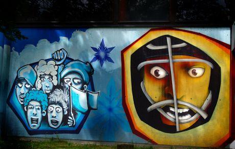 Wanddekoration: da gewollt, wäre Graffito der falsche Begriff