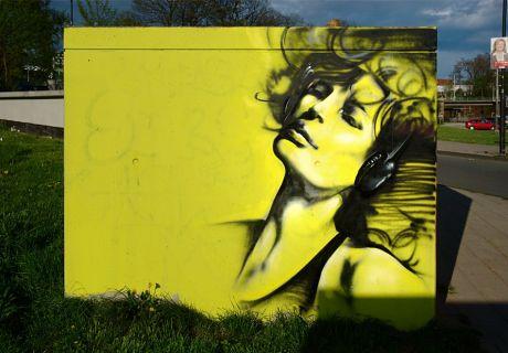 Graffito im Südpark