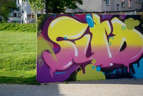 Wandgraffito im Südpark