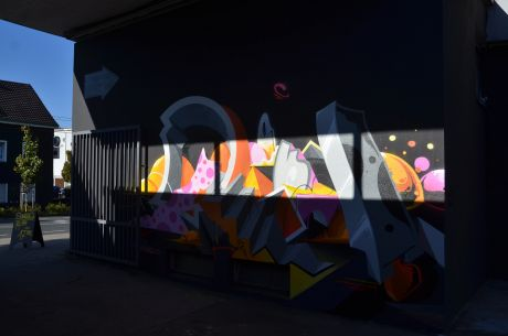 Graffito am Eingang