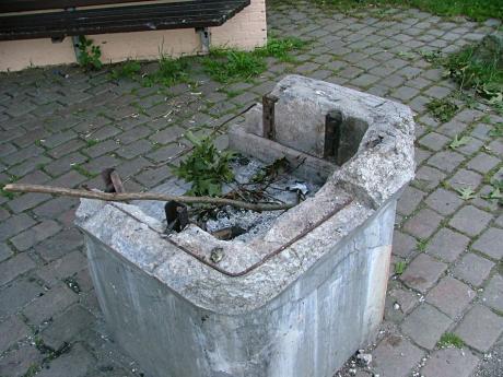 öffentlicher Grillplatz: einst in Oberburg