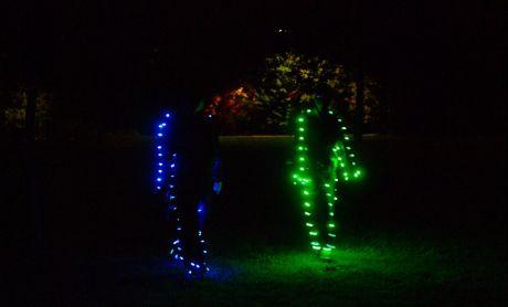 Grün-Blau-Menschen