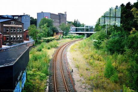 Fahrweg des Müngsteners am Grünewald