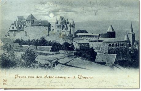 Gruss von Schloss Burg: gelaufen 21.8.1900