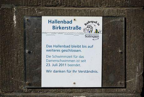 """Hallenbad Birkerstraße: """"Das Hallenbad bleibt bis auf weiteres geschlossen"""""""