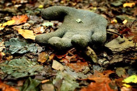 Handschuh, ohne Inhalt