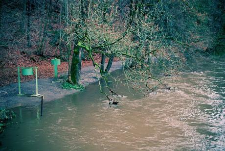 Mittleres Hochwasser in Strohn