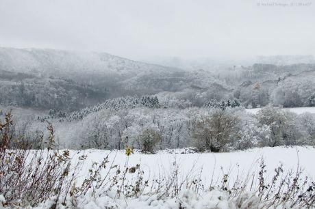 Haus Hohenscheid am ersten Schneetag 2013: 6.12.2013, Nikolaustag