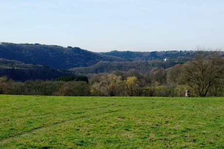 Haus Hohenscheid (24.02.2014): Was ein Glück, dass das Internet noch keine Gerüche überträgt. Unser lokaler Bauer verteilt Gülle auf die Wiesen.
