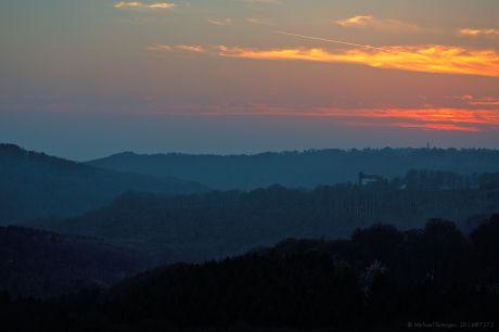 Haus Hohenscheid nach Sonnenuntergang
