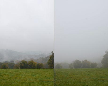 Hohenscheid am 25. Oktober 2016: Dienstag, Nebel zieht auf