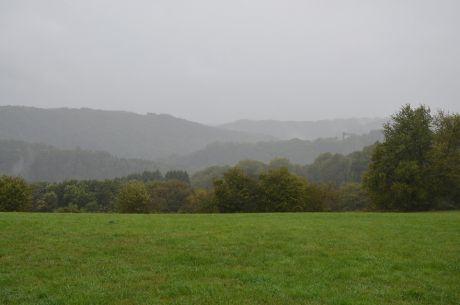 Hohenscheid am 23. September 2018: +13°C, Wind und Regen