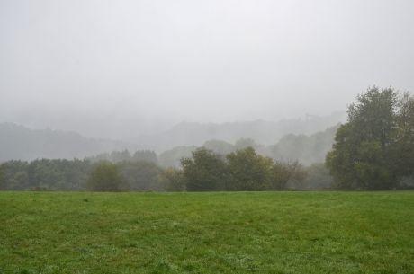 Hohenscheid am 2. Oktober 2018: Schlappe +8°C bei Nieselregen