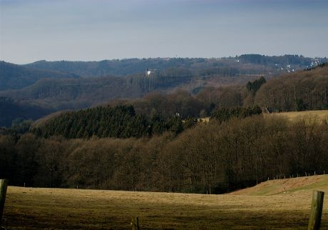 Blick auf Haus Hohenscheid vom Pfaffenberg aus: im Februar 2012