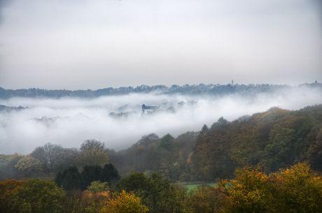 Nebel im Tal der Wupper