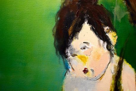 Detail aus einem Ölbild der chinesischen Malerin Jia He: Seele, 115 x 150 cm