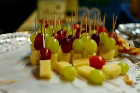 Käse am Spieß