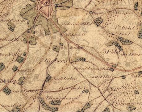 1824 + 1964: zwei Karten übereinandergelegt