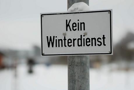 Kein Winterdienst im Südpark: Außer dem Museum Plagiarius und Möni Quarch dienstete heute niemand in seinem Atelier