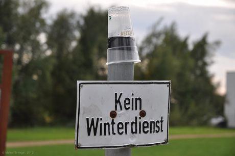 Kein Winterdienst!