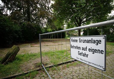 Keine Grünanlage - Betreten auf eigene Gefahr: Der Oberbürgermeister